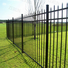 Garden Iron Fencing / Solid Metal Fence Panel / White Garden Fence