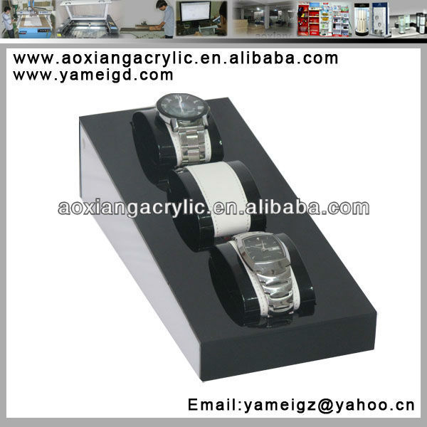 Customized desktop acrylic watch display stand/watch display holder