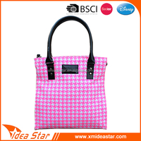 Hot selling wholesale cheap fashion pink ladies blank canvas tote bag