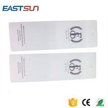 Customized RFID Coated paper PVC clothing hang tag with H3/H4 Impinj chip