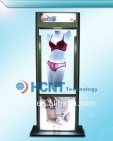 New Invention ! magnetic levitation led display rack for underwear, sexy image girl bra