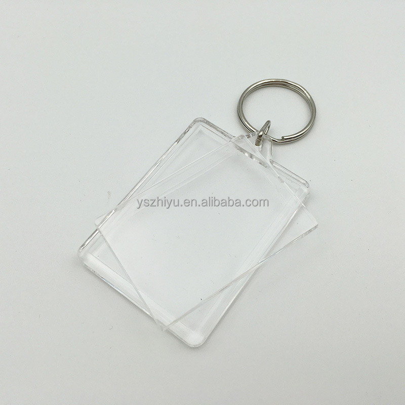 Rectangle Shaped Promotional Blank Plastic Acrylic Key Tag