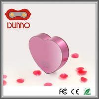 china cheapest red and pink color power bank with cute heart shape