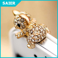Cute Fashion Diamond Gold Koala Anti Dust Plug for Cell Phone