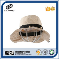 Outdoor foldable bucket cap hiking hat with fixed rubber band