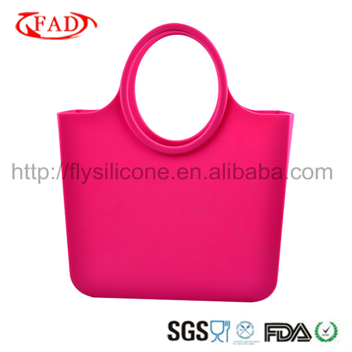 Unbelieveble fashion Silicone Ladies handbags With 2017 Latest Design For Shopping