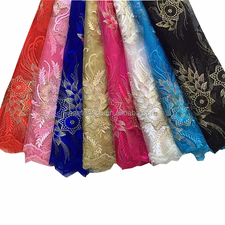 Cheap embroidery lace fabric dubai bridal french