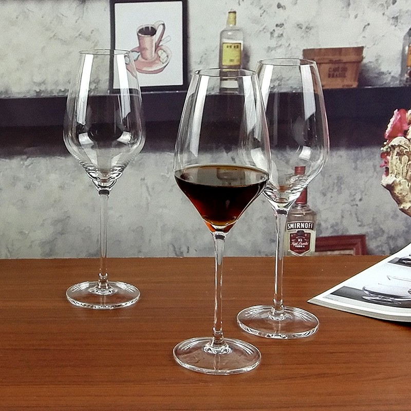 Wholesale Wedding 400ML Lead-free Elegant Red Wine Glass Goblet Crystal Glass Cup For Wine