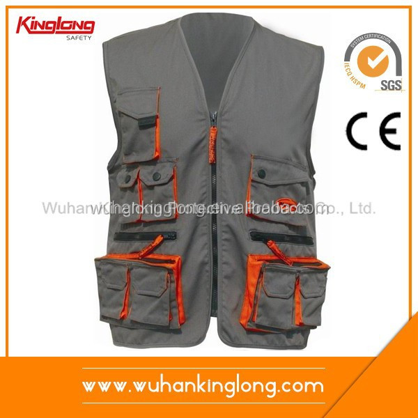 Custom uniform worker's vest for tool company