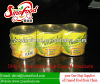 Retail Canned Sweet Corn 184g x 3tins x 8