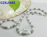 hot sell cheap pearl necklace and earring set