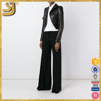 Clothing manufacturer dubai style leather jacket for wowoman