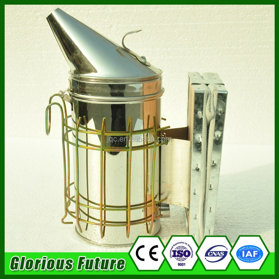 201 Stainless Steel Cowhide Round Head European Bee Smoker Butane Gas Fogger Smoker For Greenhouse Best Bee Sale