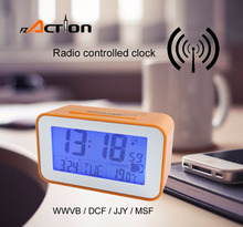 Wholesale World Time Travel Radio Controlled Digital Clock with Temperature
