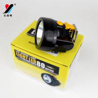 OEM Black and Red Color 8000LM with Metal Clip 18650 LED Miner lamp/ Mining lighting/ Underground explosion-proof cap lamp