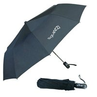 3-fold auto open umbrella. Has a push button auto-open handle. One colour print.