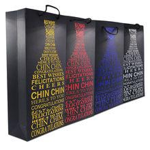 Luxury Wine Bottle Paper Gift Bags with Handle Party Birthday Wedding Favour