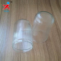 Large supply of led stripes column cap Cylindrical glass chimney striped bubble glass striped bubble shell