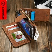 factory 2 in 1 detachable genuine leather phone case for samsung galaxy S7 edge