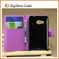 new design flip leather case for htc desire 200