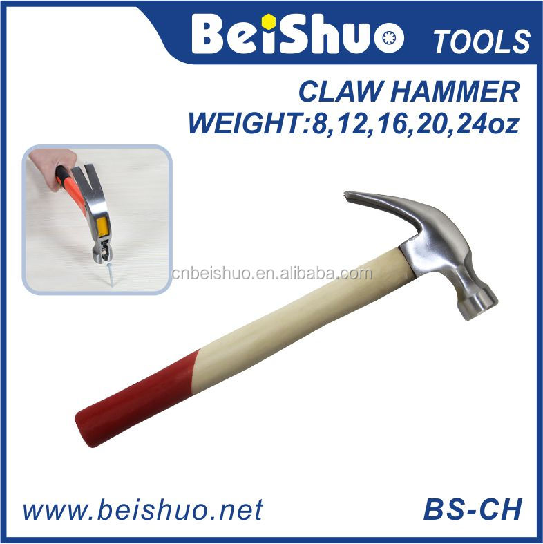One Piece American Claw Hammer with Wooden Handle