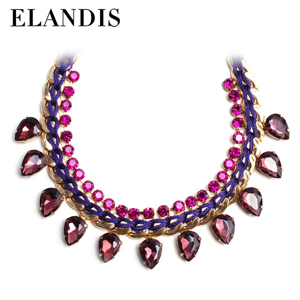 E-ELANDIS multi layer alloy necklace new model necklace chain party dress jewelry NL10532
