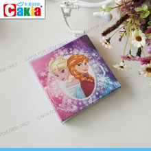 Fashion girl christmas printing different shapes greeting cards