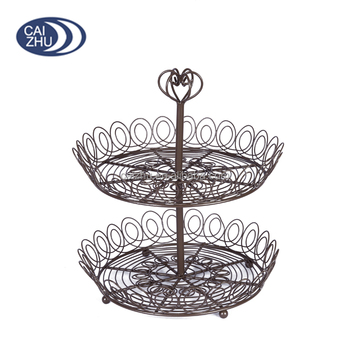 Wedding fruit basket decoration,wire fruit basket,fruit basket stand