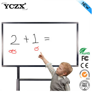 china kiosk manufacturer cheap smart board auto touch screen pc with wifi for classroom teaching with android OS