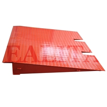 Steel container ramp for forklift