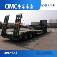 CIMC Triangle Tyre/Fuwa Axle Low bed Semi Trailer On Sale For Excavator