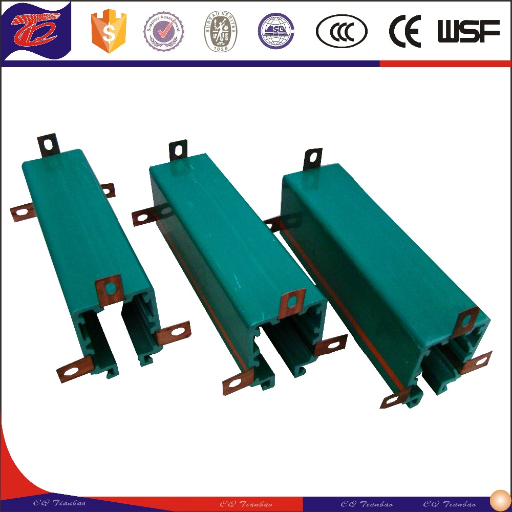 Safety sliding contact line Isolated low voltage copper busbar