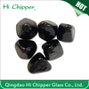 Black colored diamond shape decorative fire glass gemstone for fire pit