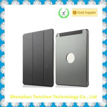 NEW!! magnetic smart cover for ipad air 2 with metal back cover