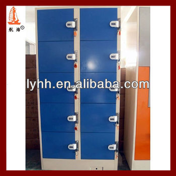 10 doors dark blue valuables locker, electronic safe locker,digital locks for lockers