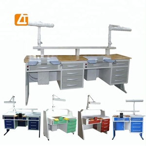 wood table LT-D04 dental technician table dental tech workstation lab bench