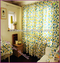 green leaf printing fabric curtain promoting in 2013