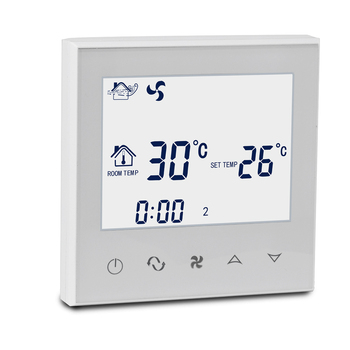 Touch screen temperature control room thermostat for HVAC system