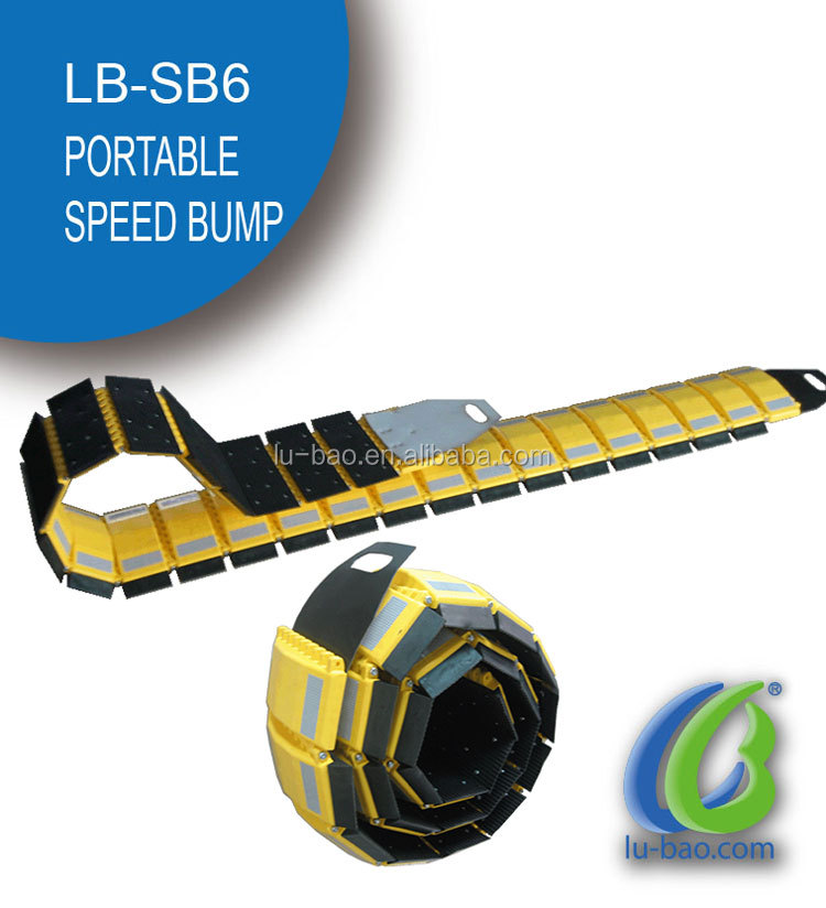 CE standard Hot sale PP Rubber Portable Road Speed Bump traffic speed bump
