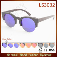 2016 High-end Hand made bamboo wooden sunglasses polarized real hand polished custom logo laser engraved LS3032-C1