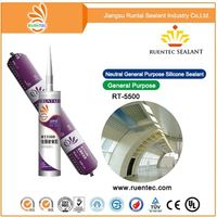 Auto Glass Uv Resistance Non Quick Curing Acetic Silicon Sealant 668