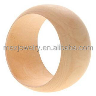 Large Wide Plain Unfinished Natural Wood Wood Round Bracelet Wholesale Wooden bangles