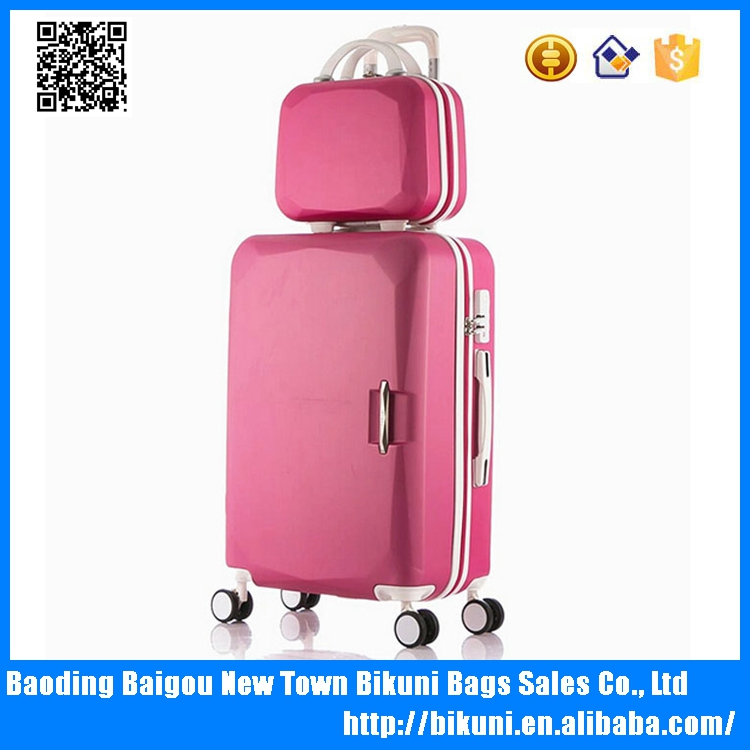 Fashion bags ABS luggage bags luggage case with trolley