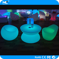 China manufacturing LED color changing magic coffee bar table / wireless LED fancy light table