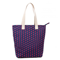 CB165 Reshine New Design Full Color Custom Printed China Supplier Polka Dot Tote Bags