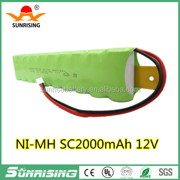 Manufacturer direct sale 2000mah SC 12v ni-mh robot vacuum cleaner battery pack for Irobot Roomba