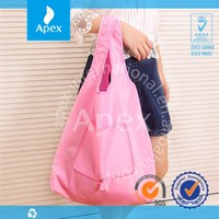 Resuable waterproof foldable polyester shopping bag