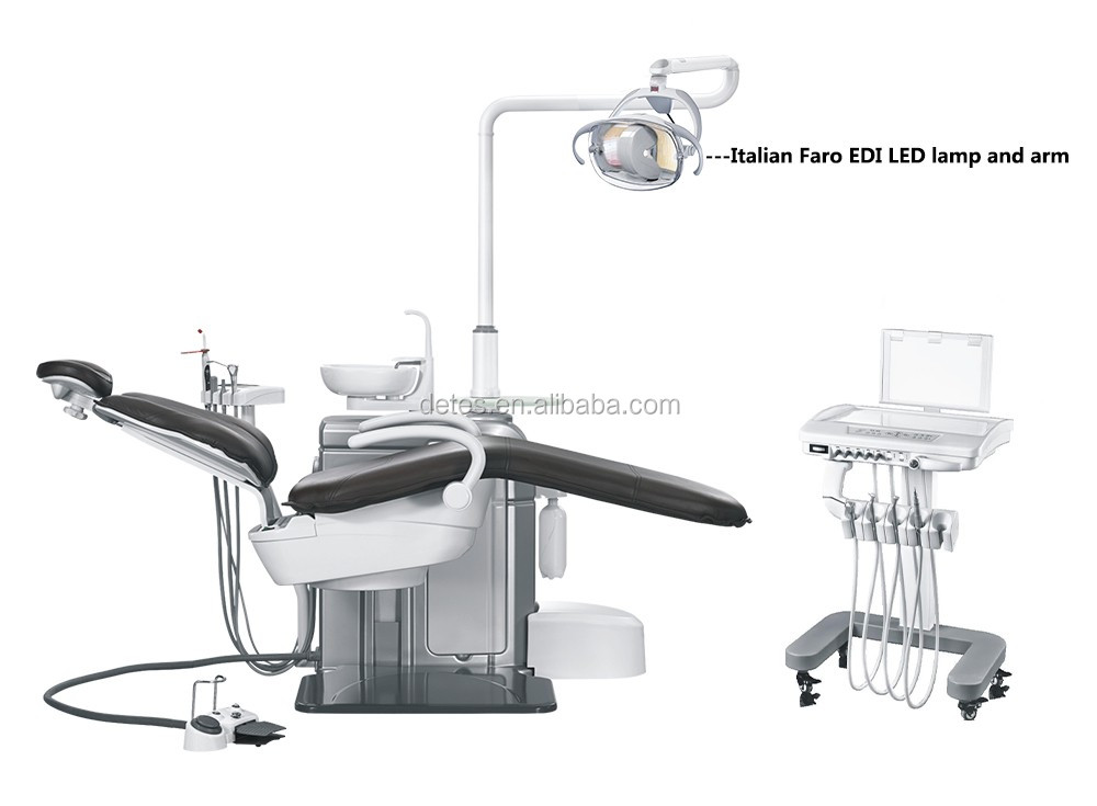 Detes high quality suspended dental chair with cart TS-TOP301 CART