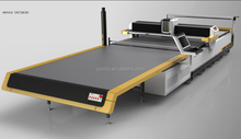 Industrial Sewing Cutting Tables For Garment Fabric Cutting With Shaped Fabric Cutting Knives