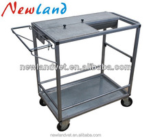 NL12302 galvanized treatment trolley for poultry use